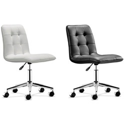 @Overstock - Style: Modern Color: Black, white Materials: Leatherette, steel http://www.overstock.com/Home-Garden/Bryce-Office-Chair/6177808/product.html?CID=214117 $184.99