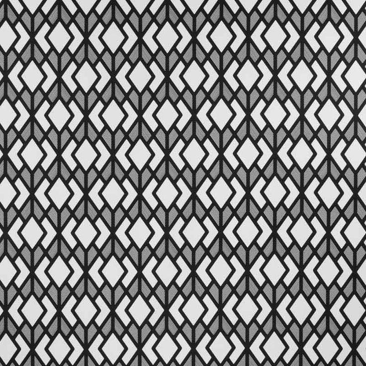 Monochrome Collection, Warwick Fabrics : ODETTA / Black and White