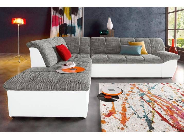 Domo Collection Eck Couch Mit Schlaffunktion Weiss Hoher Sitzkomfort Bed Living Room Decor Couch