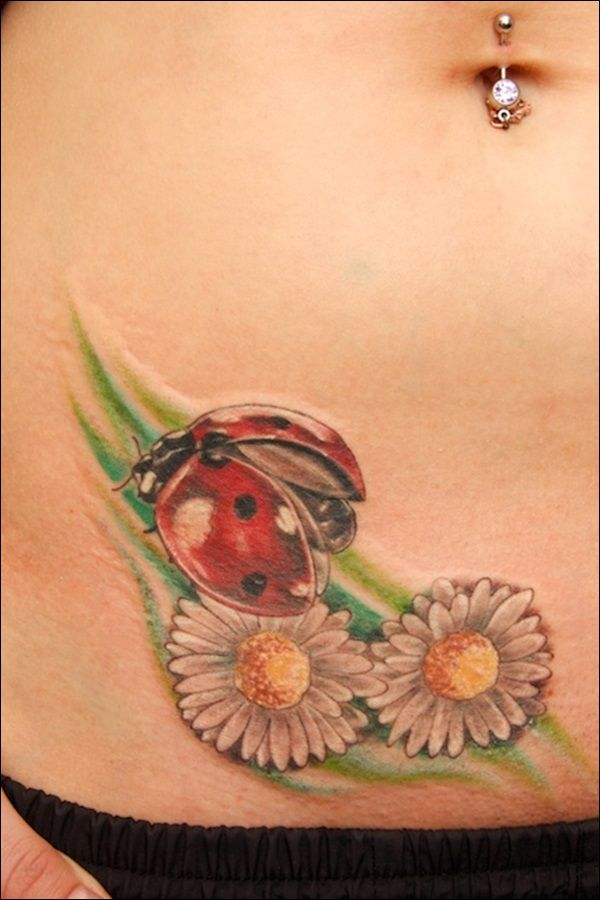 Ladybug Tattoo Designs - nice little wings showing