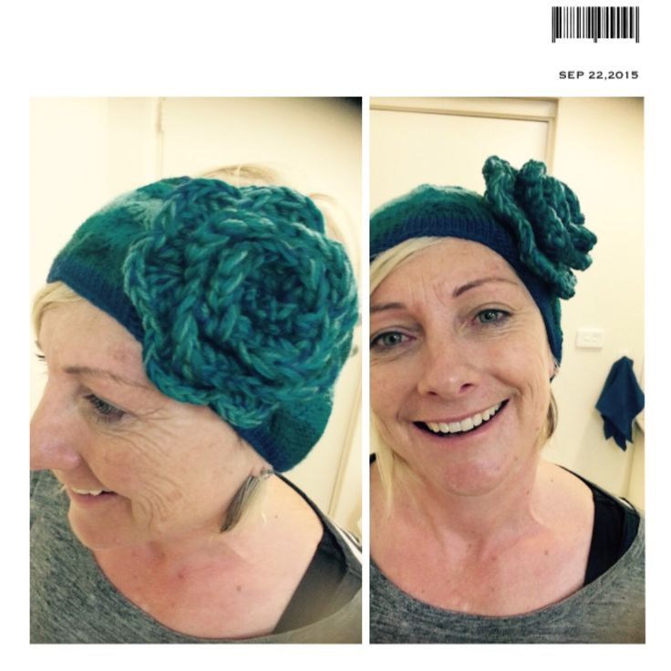 Made this blue headband for my beautiful naturopath. She has blue eyes so I thought this would suit her well. For the flower I intertwined 3 different blues which caused quite an affect and enlarged the flower significantly. I'm on the hunt for brooch pins so I can make flowers.