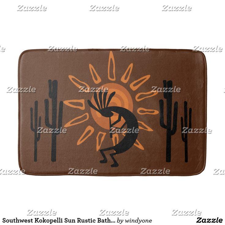 Southwest Kokopelli Sun Rustic Bath Mat