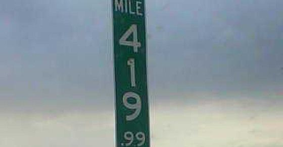 The Colorado Department of Transportation has replaced the 420 mile marker with 419.99 in an effort to stop theft. This is hilarious to me!