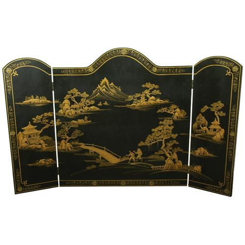 Black Fireplace Screen
