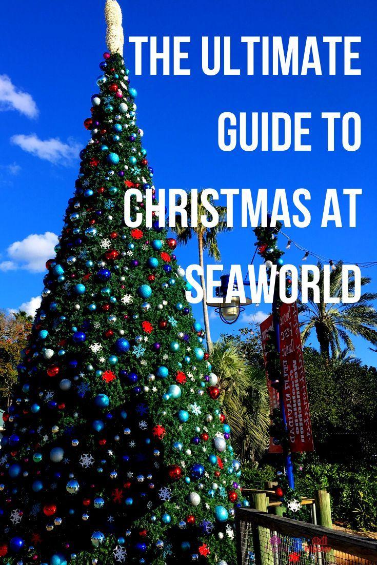 How To Celebrate Christmas At Seaworld Orlando Themeparkhipster In 2020 Sea World Orlando Theme Parks Seaworld Orlando