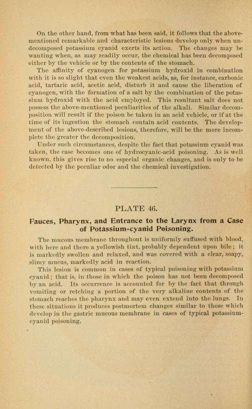 Atlas of legal medicine - cyanide poisoning