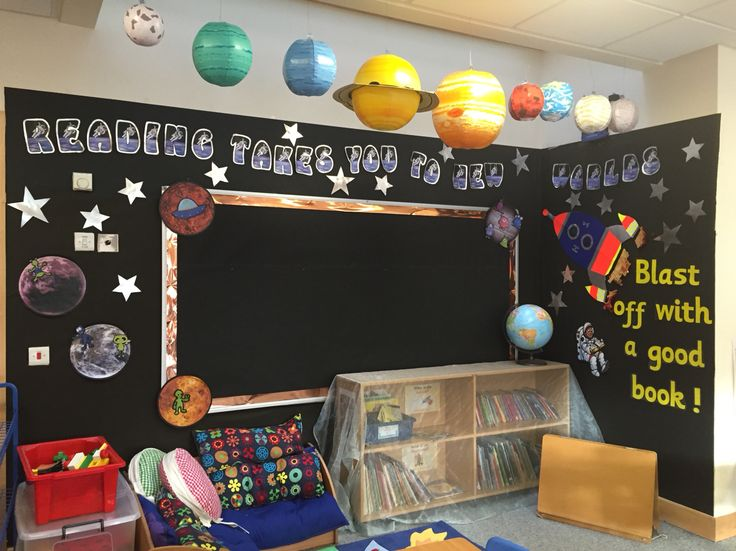 53 best stories and prop ideas images on pinterest book for Space themed book corner