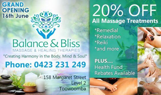 balance and bliss massage special offer