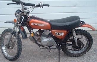 1st bike. Honda XL70. Mine was red.