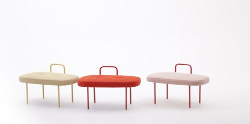 Contemporary stool / metal / upholstered SOL by Andreas Engesvik LK Hjelle