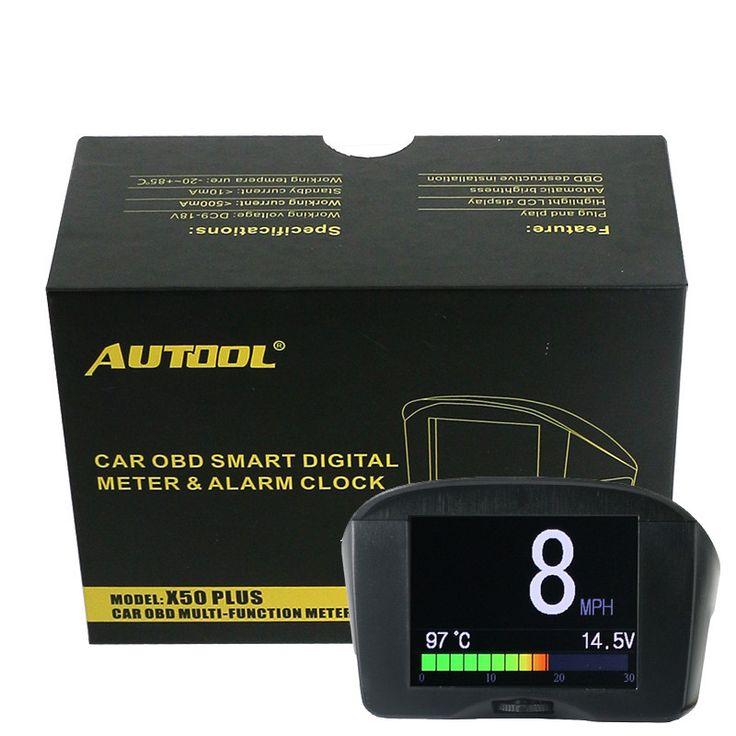 2.4 ''AUTOOL X50 Plus Samochodów HUD OBD wielofunkcyjny Cyfrowy Miernik TEMP Wyświetlacz HeadUp OBD Alarmu Prędkości Wody Jazdy Wyświetlacz komputera | 32650770956_tr