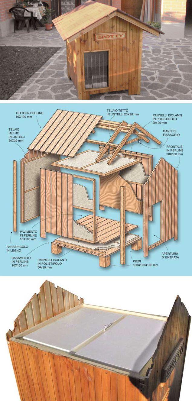 Costruire Cuccia Per Gatti casetta per cani bricolage (con immagini) | casette per cani