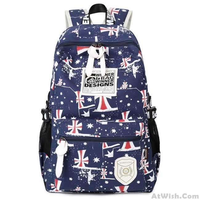 Wow~ Awesome Leisure Printing Teenagers Travel Sport  Rucksack College Backpack! It only $33.99 at www.AtWish.com! I like it so much<3<3!