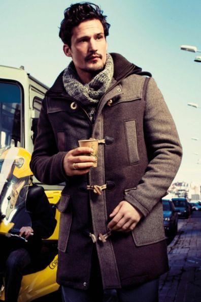Desigual men's Xavier coat. A really original, warm coat with a hood.