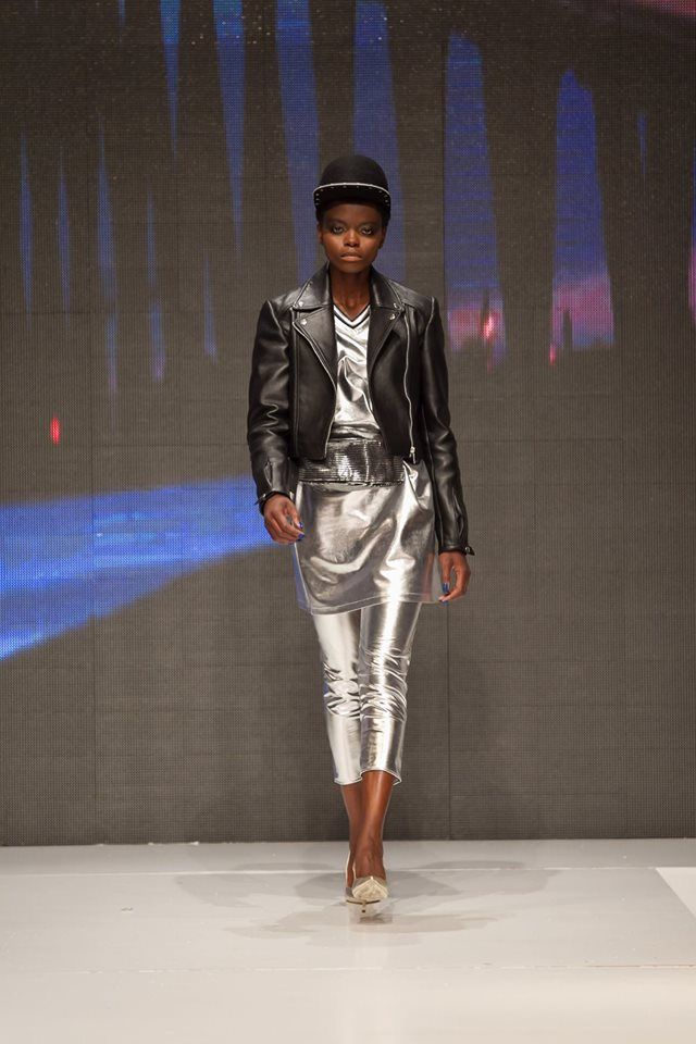 One of our favourite combos: leather + metallics. Biker Jacket by Sabina Pop available on www.bandofcreators.com.
