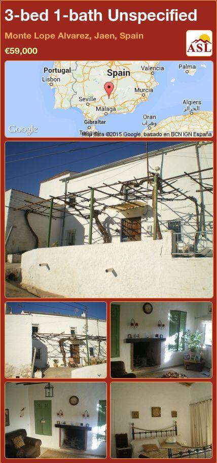3-bed 1-bath Unspecified in Monte Lope Alvarez, Jaen, Spain ►€59,000 #PropertyForSaleInSpain