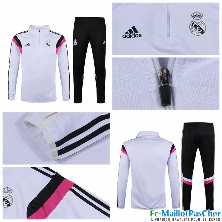 survetement adidas real madrid noir et rose