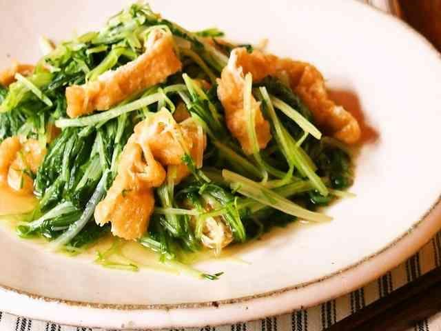 水菜と薄揚げの煮浸しの画像