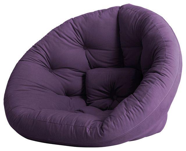 Nest Convertible Futon Chair/Bed Purple