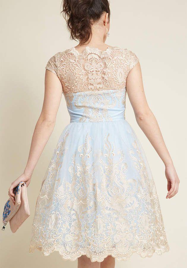 Chi Chi London Exquisite Elegance Lace Dress In Sky Exquisite London Chi Lace Dress Dresses Embroidered Dress