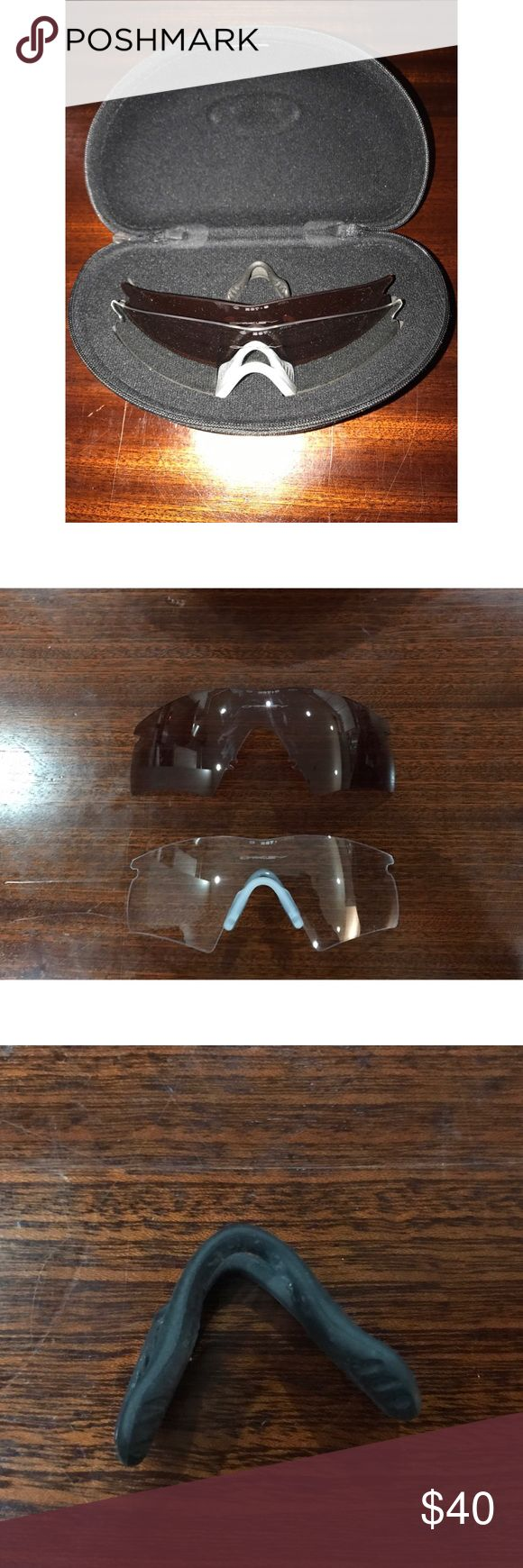 Oakley Ballistic Replacement Lens and Nose Piece Oakley Ballistic Replacement Lens and Nose Piece including Oakley hard case - Brand New never been used.. my husband lost the frames and a pair of lenses that came with the set. 🤦🏼♀️ Oakley Accessories Sunglasses