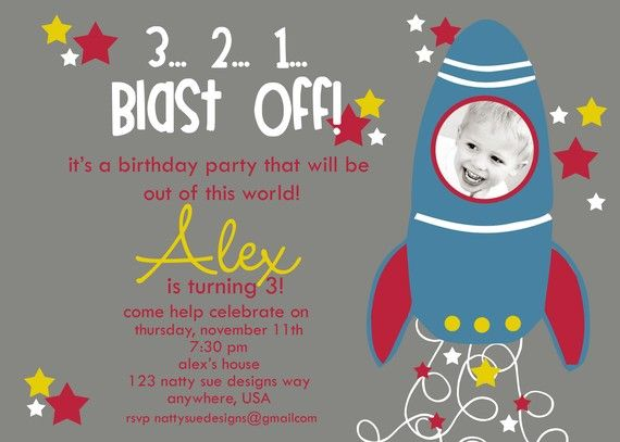 65 best Brodys Rocketship Birthday Party images – Rocket Ship Birthday Invitations