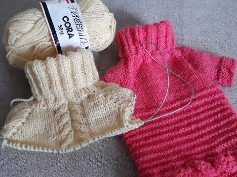 """Как связать свитер для собаки своими руками.Одежда для собак на канале""""Дела домашние"""" - YouTube"""