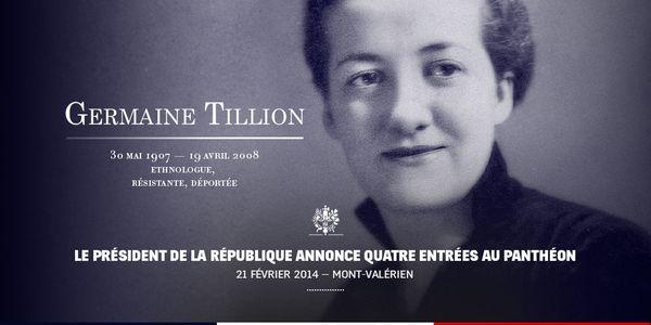 Hommage à Germaine Tillion :  le courage et le sens de l'honneur. | Germaine Tillion, célèbre ethnologue française sera inhumée au Panthéon a Paris le 27 mai 2015
