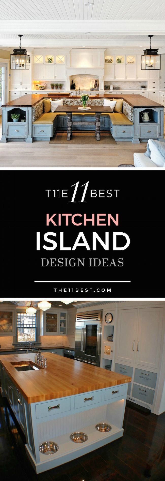 The 11 best kitchen island design ideas for your home for Kitchen remodeling ideas pinterest