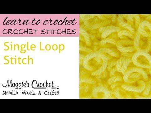 ▶ Crochet Single Loop Stitch - YouTube