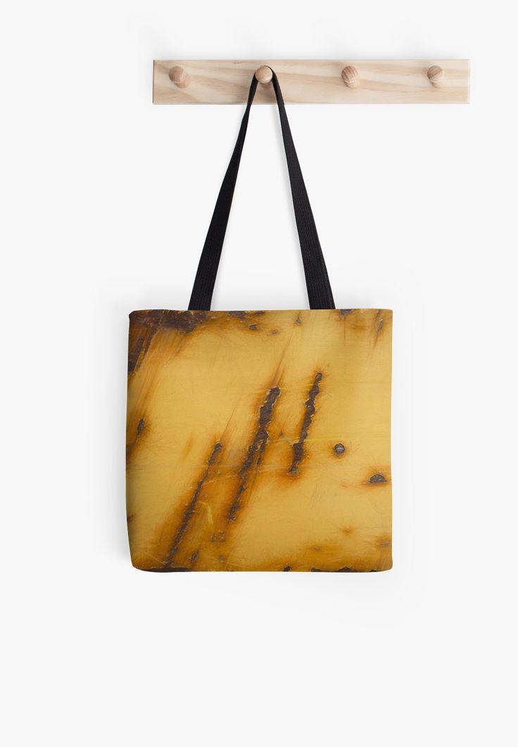 Rusty Steel Yellow // Acier jaune rouillé Tote bags by Galerie 503