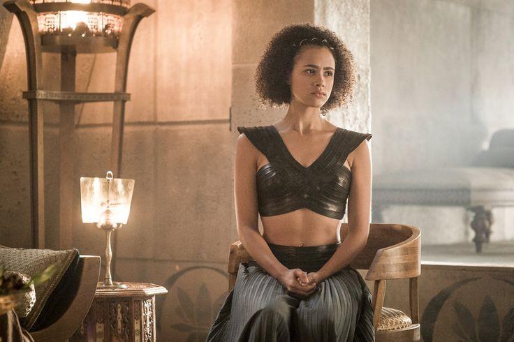 Nathalie Emmanuel as Missandei – photo Helen Sloan/HBO (Game of Thrones, Season 6)