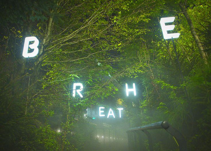 Austria's Milan Expo pavilion contains a misty forest