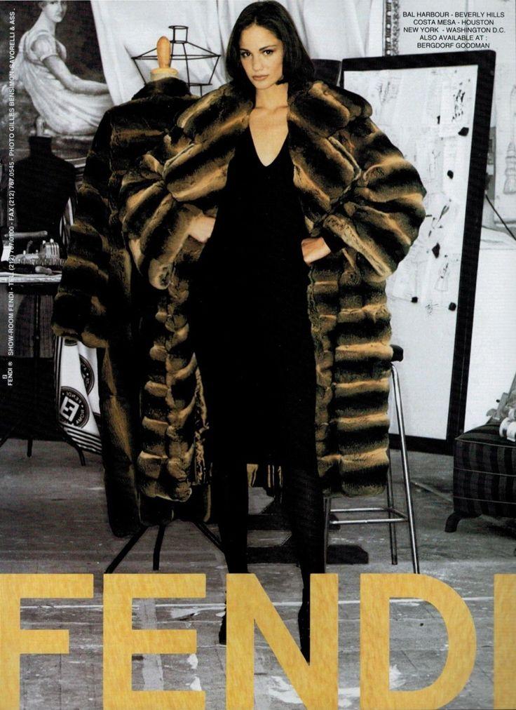 1996 Fendi Furs Fashion Magazine Print Ad: [Maria Ines Rivero] TopModel