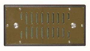 "Gold Cigar Humidor Humidifier 6.25"""" X 3"""" Rectangle Adjustable Sliding Vent"