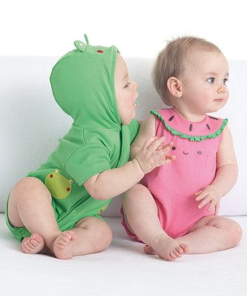 Mothercare Novelty Frog Romper Wish they had the watermelon too!