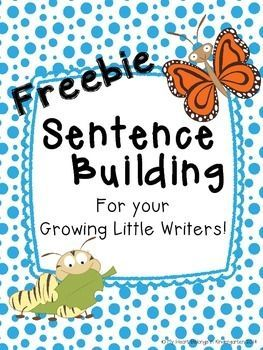 FREE sentence building activities for the five stages of a butterfly's life cycle.