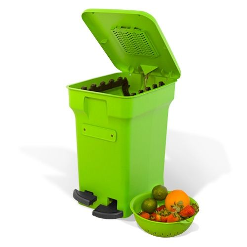 loving this stylish odorfree kitchen compost bin that makes doing my part for