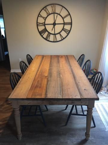 finished project, table, DIY, farmhouse, fixer upper