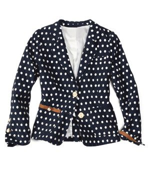 corey lynn calter polka-dot jacket