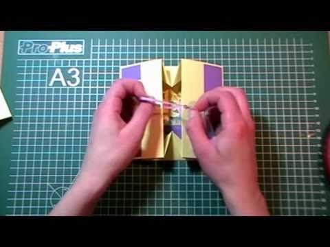 Doosje vouwen van een ansichtkaart - YouTube