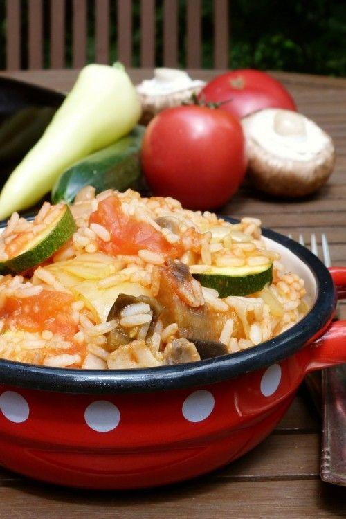 Zöldséges-rizses lecsó