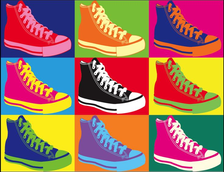 andy warhol chucks artofeducation printmaking. Black Bedroom Furniture Sets. Home Design Ideas