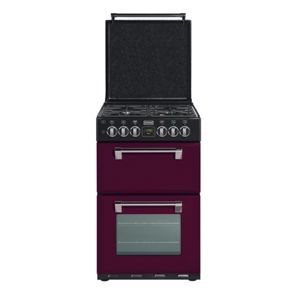 Stoves Richmond 550DFW Dual Fuel Cooker - Wild Berry