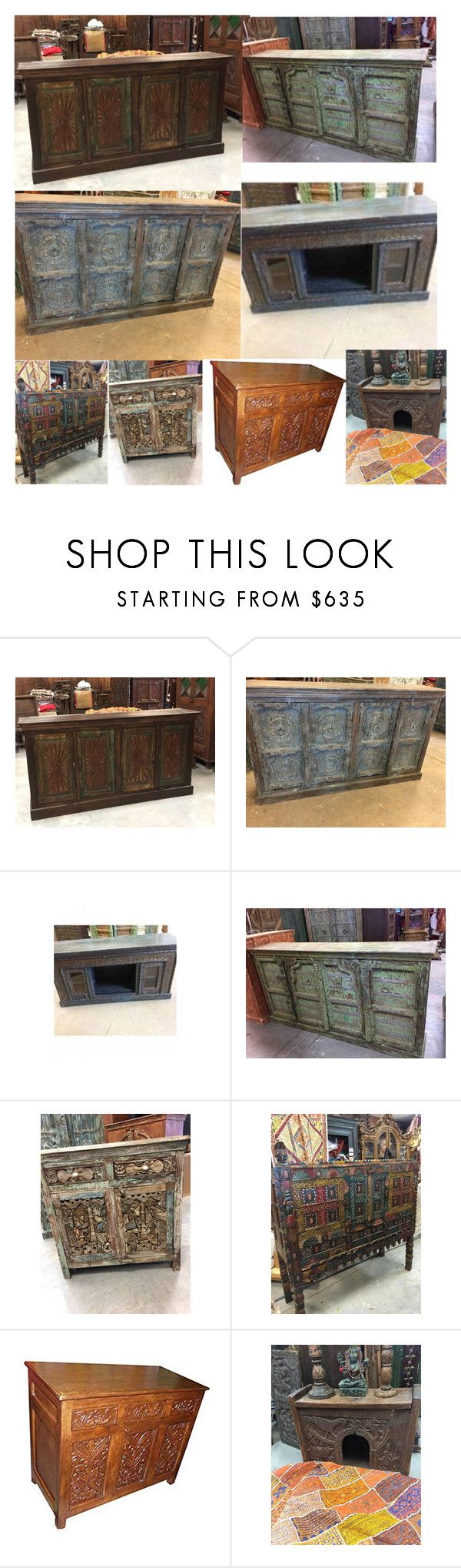 """""""Sideboard Handmade Furniture"""" by era-chandok ❤ liked on Polyvore featuring interior, interiors, interior design, home, home decor, interior decorating, sale, sideboard, offer and antiquefurnitu"""