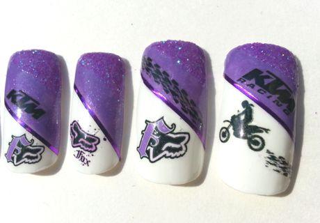 fox racing nail designs - Google Search