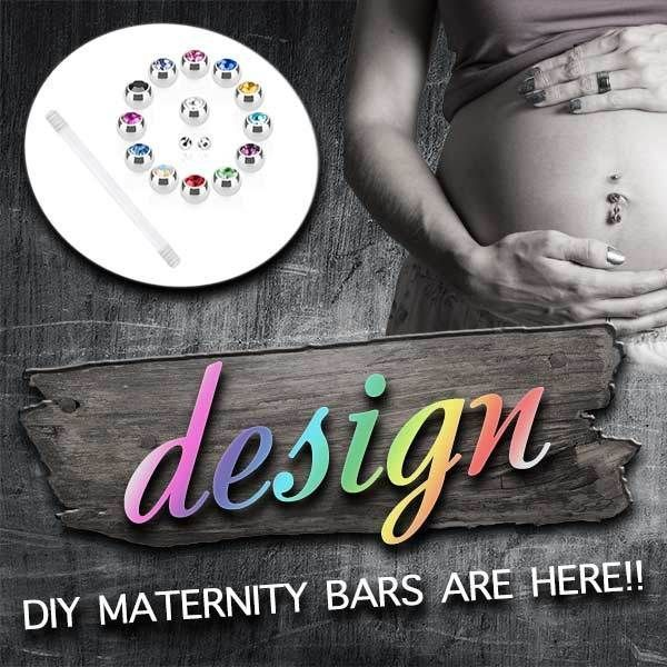 DIY Pregnancy Belly Rings  Make Your Own Pregnancy Belly Rings. DIY Maternity Belly Bars.  Find it at www.thebellyringshop.com.au #pregnancybellyrings,