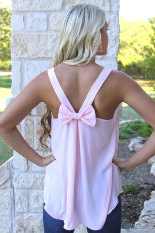 Like a lady bow back top
