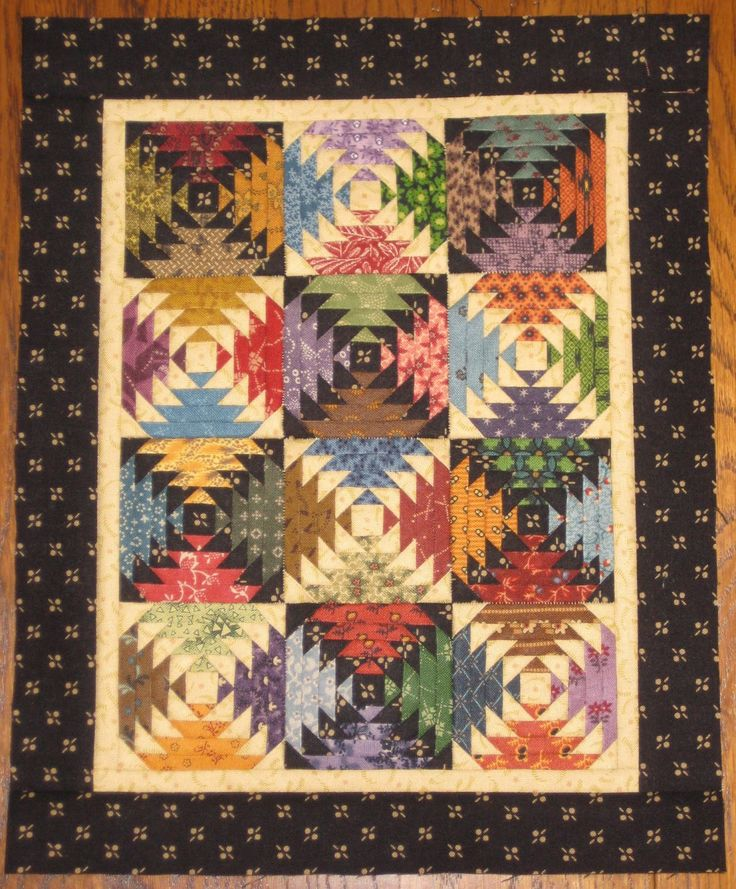 Mini Quilt Block Template Set : pineapple paper pieced mini quilt quilts Pinterest
