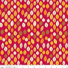 """FABRIC GRAND OPENING  Riley Blake """"Happy Harvest"""" Leaves Red by HouseOfJdawn on Etsy"""